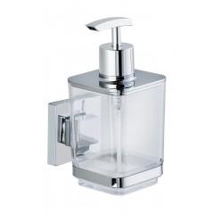Vacuum-Loc® Seifenspender Quadro, Edelstahl, Befestigen ohne bohren