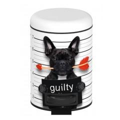 Wenko Kosmetik Treteimer Guilty Dog, 3 Liter