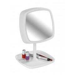 Wenko LED-Kosmetikspiegel & Tischleuchte Ostia, 5-fach Vergrößerung