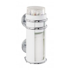 Wenko Express-Loc® Wattepad- und Ohrstäbchenhalter Cali, Edelstahl, Befestigen ohne bohren