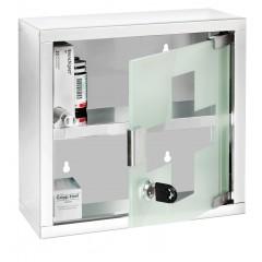 Wenko Medikamentenschrank, Edelstahl glänzend, 25 x 25 cm