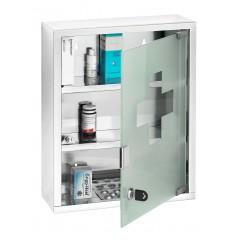 Wenko Medikamentenschrank, Edelstahl glänzend, 30 x 40 cm