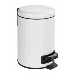 Wenko Kosmetik Treteimer Punto Weiß, 3 Liter