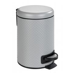 Wenko Kosmetik Treteimer Punto Grau, 3 Liter