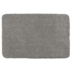 Wenko Badteppich Mélange Light Grey, 55 x 65 cm, Mikrofaser