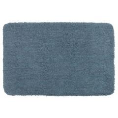 Wenko Badteppich Mélange Marine Blue, 55 x 65 cm, Mikrofaser