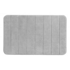 Wenko Badteppich Memory Foam Stripes, Light Grey, 50 x 80 cm