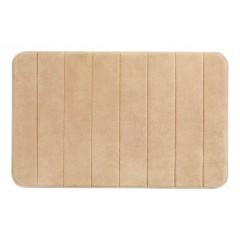 Wenko Badteppich Memory Foam Stripes, Sand, 50 x 80 cm