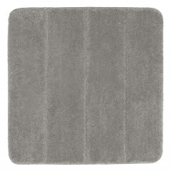Wenko Badteppich Steps Light Grey, 55 x 65 cm, Mikrofaser