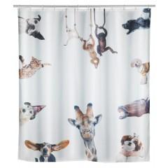 Wenko Duschvorhang Friends, Polyester, 180 x 200 cm, waschbar