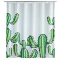 Wenko Duschvorhang Cactus, Polyester, 180 x 200 cm, waschbar