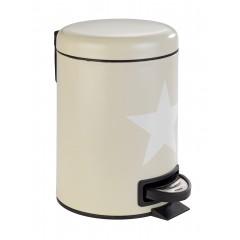Wenko Kosmetik Treteimer Stella Taupe, 3 Liter