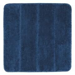 Wenko Badteppich Steps Marine Blue, 55 x 65 cm, Mikrofaser