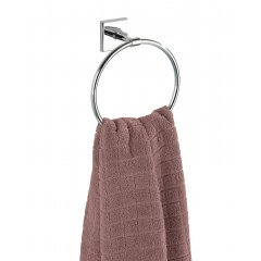 Wenko Power-Loc® Handtuchring Laceno, Edelstahl, Befestigen ohne bohren