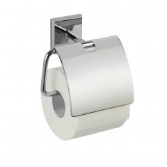 Wenko Power-Loc® Toilettenpapierhalter mit Deckel Laceno, Edelstahl, Befestigen ohne bohren