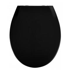 Wenko Premium WC-Sitz Kos Schwarz, Thermoplast, mit Absenkautomatik
