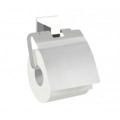 Wenko Express-Loc® Toilettenpapierhalter mit Deckel Formia, Edelstahl, Befestigen ohne bohren