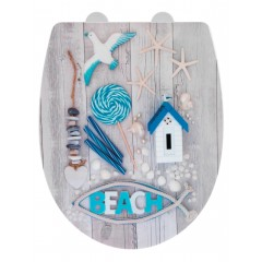 Wenko Premium WC-Sitz Beach High Gloss, Thermoplast