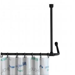 Wenko Deckenstütze für Duschstangen Schwarz, 57 cm