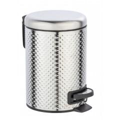Wenko Kosmetik Treteimer Punto Satiniert, 3 Liter