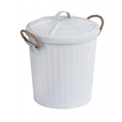 Wenko Kosmetikeimer Gara Weiß matt, 6 Liter