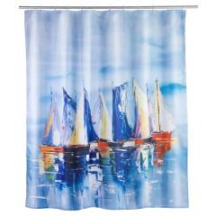 Wenko Duschvorhang Sailing, Polyester, 180 x 200 cm, waschbar