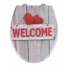 Wenko Premium WC-Sitz Welcome, Duroplast, mit Absenkautomatik