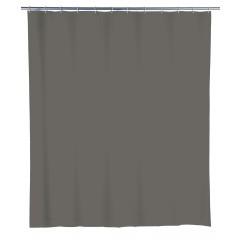 Wenko Duschvorhang Uni Mouse Grey, PEVA, 240 x 180 cm