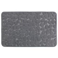 Wenko Badteppich Memory Foam Pebbles Grau, 50 x 80 cm