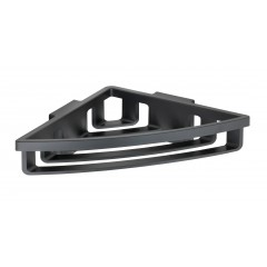 Wenko Power-Loc® Eckablage Bralia Schwarz, Befestigen ohne bohren