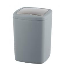 Wenko Schwingdeckeleimer Barcelona L Grau, Spezialkunststoff, absolut bruchsicher, 8,5 Liter