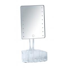 Wenko LED-Standspiegel mit Organizer Trenno, Leuchtspiegel
