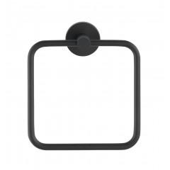 Handtuchring Bosio Black matt, Edelstahl rostfrei