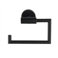 Wenko Toilettenpapierhalter Bosio Black matt ohne Deckel, Edelstahl rostfrei