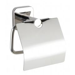 Wenko Toilettenpapierhalter mit Deckel Mezzano, WC-Rollenhalter aus rostfreiem Edelstahl