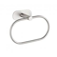 Wenko Turbo-Loc® Edelstahl Handtuchring Orea Matt, Handtuchhalter aus rostfreiem Edelstahl