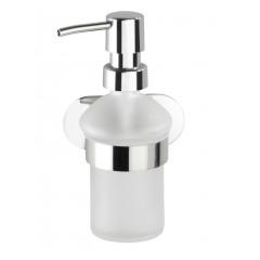 Wenko Turbo-Loc® Edelstahl Seifenspender Orea Shine, Flüssigseifen-Spender aus rostfreiem Edelstahl, Befestigen ohne bohren, ca. 200 ml