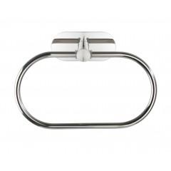 Wenko Turbo-Loc® Edelstahl Handtuchring Orea Shine, Handtuchhalter aus rostfreiem Edelstahl