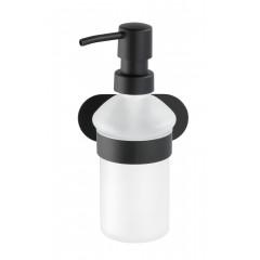 Wenko Turbo-Loc® Edelstahl Seifenspender Orea Black Matt, Flüssigseifen-Spender aus rostfreiem Edelstahl, Befestigen ohne bohren, ca. 200 ml