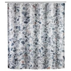 Wenko Duschvorhang Terrazzo, Polyester, 180 x 200 cm, waschbar