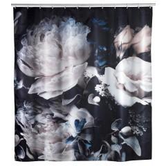 Anti-Schimmel Duschvorhang Peony, Polyester, 180 x 200 cm, waschbar