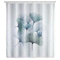 Anti-Schimmel Duschvorhang Ginkgo, Polyester, 180 x 200 cm, waschbar