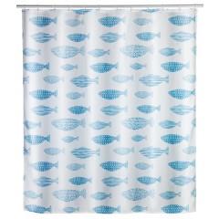 Anti-Schimmel Duschvorhang Aquamarin, Polyester, 180 x 200 cm, waschbar