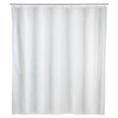 Wenko Anti-Schimmel Duschvorhang Uni White, Polyester, 120 x 200 cm, waschbar