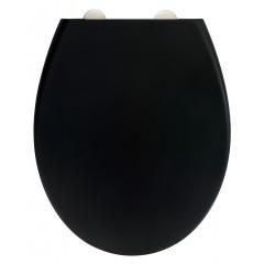 Wenko Premium WC-Sitz Ikaria Schwarz matt, Duroplast, mit Absenkautomatik