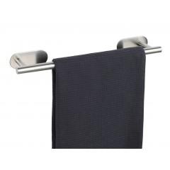 Wenko Turbo-Loc® Edelstahl Badetuchstange Orea Matt, Handtuchhalter, Befestigen ohne bohren