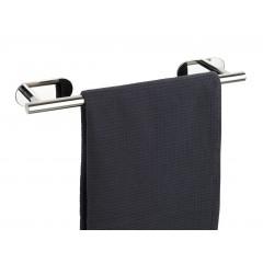 Wenko Turbo-Loc® Edelstahl Badetuchstange Orea Shine, Handtuchhalter, Befestigen ohne bohren