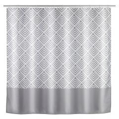 Wenko Anti-Schimmel Duschvorhang Echo, Textil (Polyester), 180 x 200 cm, waschbar