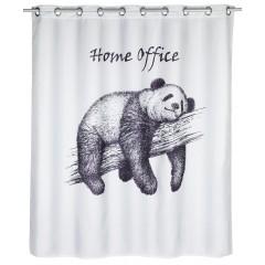 Wenko Anti-Schimmel Duschvorhang Home Office Flex, Textil (Polyester), 180 x 200 cm, waschbar