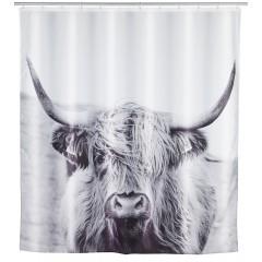 Wenko Duschvorhang Yak, Textil (Polyester), 180 x 200 cm, waschbar